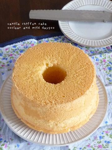 バニラシフォンケーキ♪