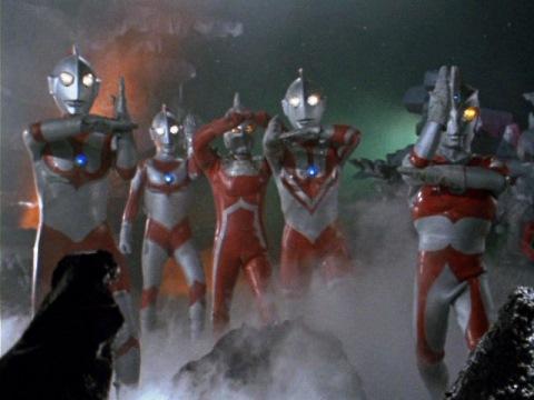 ゴルゴダ星に集まったウルトラ5兄弟
