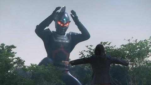 美鈴の姿に、攻撃をやめたウルトラセブンダーク(SD)