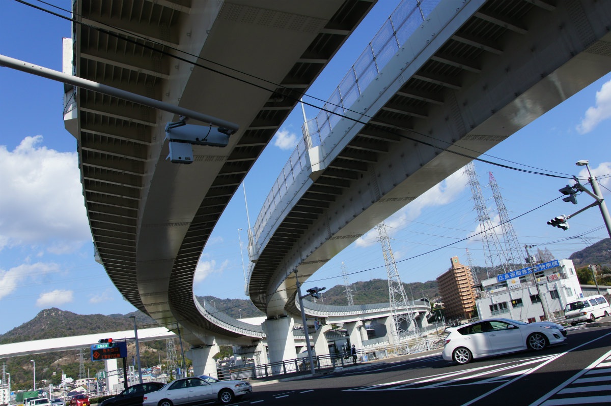 鯉党のひろしま街づくり日記         : 広島高速5号線建設工事 【温品地区】 2014.04 広がる建設用地