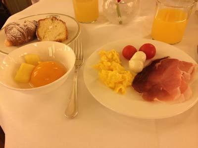 サンタ・マリア・ノヴェッラの朝ご飯