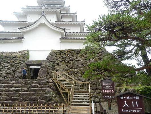 鶴ヶ城天守閣入口