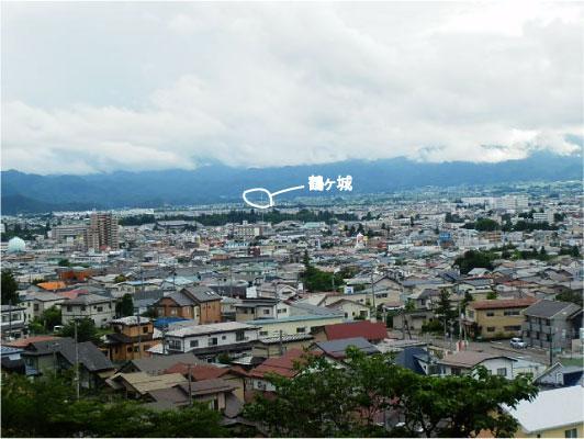 飯盛山から見た天守閣
