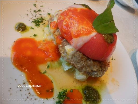 トマトとチーズのハンバーグ_1