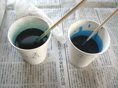 エレキベース・ブルー塗装-03