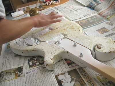 エレキベース塗装方法-07