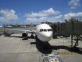 ホノルル国際空港の搭乗機