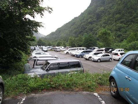 150台の無料駐車場