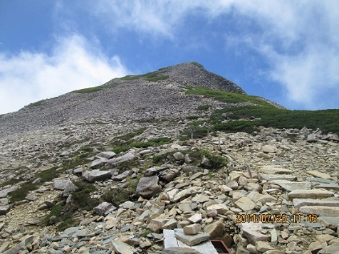 笠ヶ岳山頂ピーク