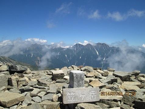 笠ヶ岳山頂風景