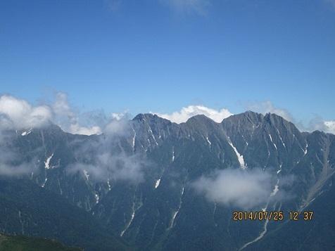 槍ヶ岳(於笠ヶ岳山荘)