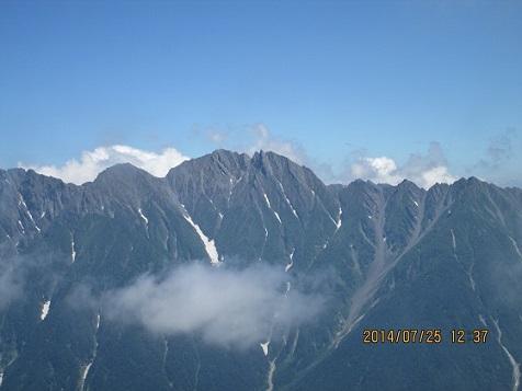 穂高連峰(於笠ヶ岳山荘)