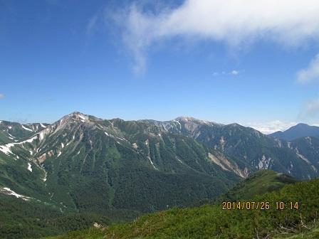 鷲羽岳と水晶岳