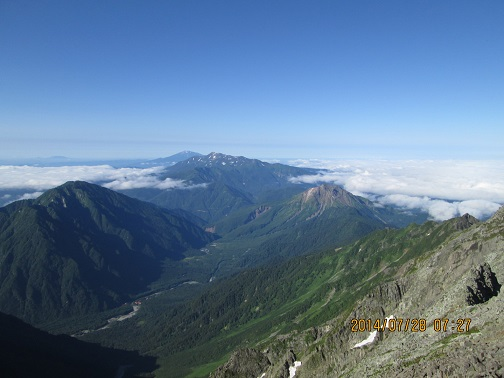 焼岳、乗鞍岳、御嶽と上高地