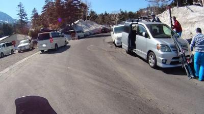 横手山スキー場・路駐いっぱい