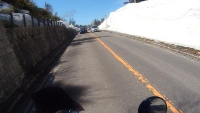 横手山雪の壁