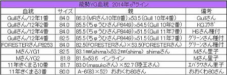 能勢YG2014年♂ライン