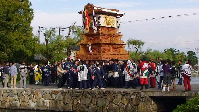 上神拝だんじり・古川だんじり(屋台) 西条祭り 御殿前 矢野寛一郎氏撮影