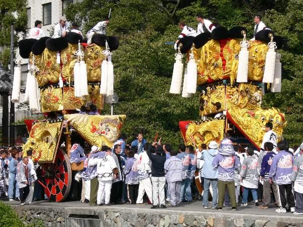 喜多濱御輿・下喜多川御輿(みこし) 西条祭り 御殿前 矢野寛一郎氏撮影