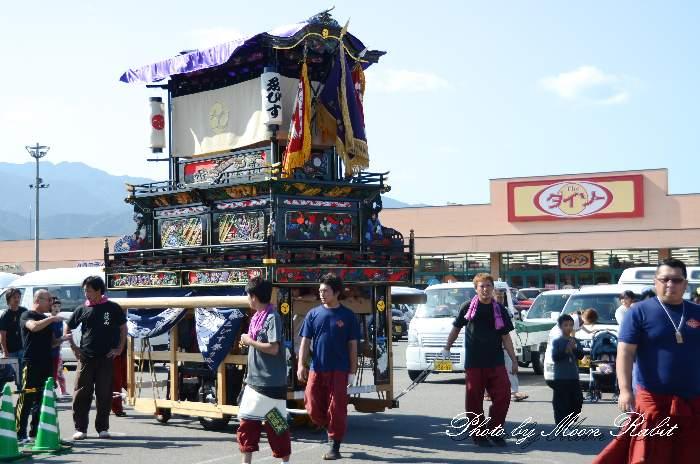 東予祭り2013 えびす会だんじり(屋台) パルティ・フジ東予店駐車場かきくらべ