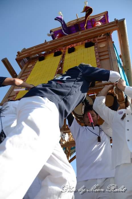 東予祭り2013 栄町屋台(だんじり) パルティ・フジ東予店駐車場かきくらべ