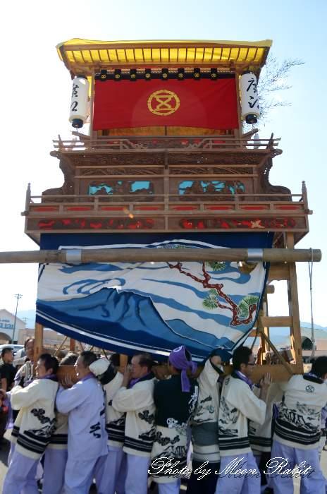 東予祭り 廣江だんじり(広江屋台) パルティ・フジ東予店駐車場かきくらべ