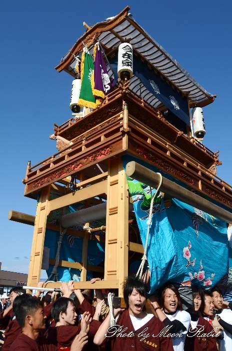 東予祭り 今在家だんじり(屋台) パルティ・フジ東予店駐車場かきくらべ