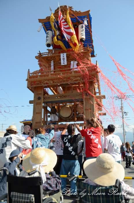 パルティ・フジ東予店駐車場かきくらべ 親善会だんじり(屋台) 東予祭り2013