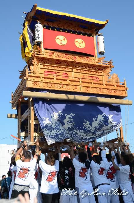 東予祭り2013 北條新田だんじり(屋台) パルティ・フジ東予店駐車場かきくらべ