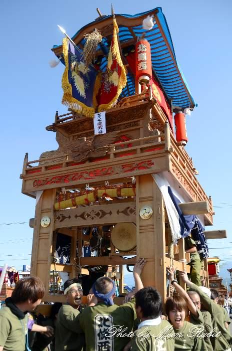 東予祭り2013 北條西だんじり(北條西屋台) パルティ・フジ東予店駐車場かきくらべ