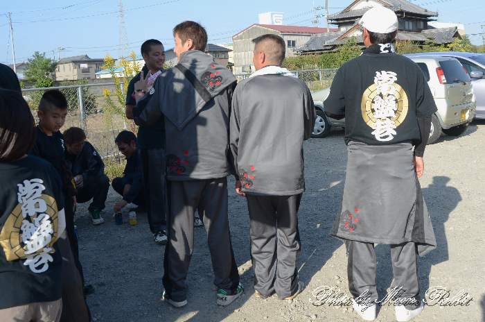 常盤巷だんじり(屋台) 祭り装束 西条祭り2013 伊曽乃神社
