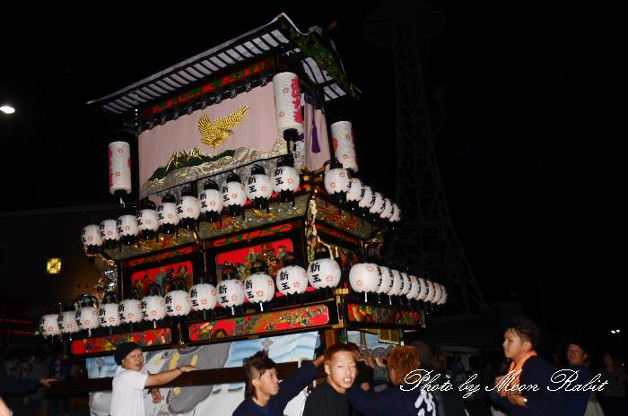 新玉通だんじり(屋台) 西条駅前 西条祭り2013 愛媛県西条市