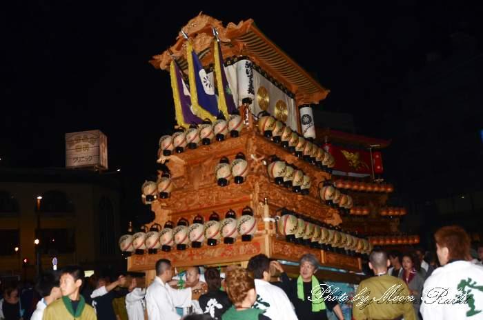 登道屋台(だんじり) 前夜祭 西条駅前 西条祭り2013 伊曽乃神社祭礼