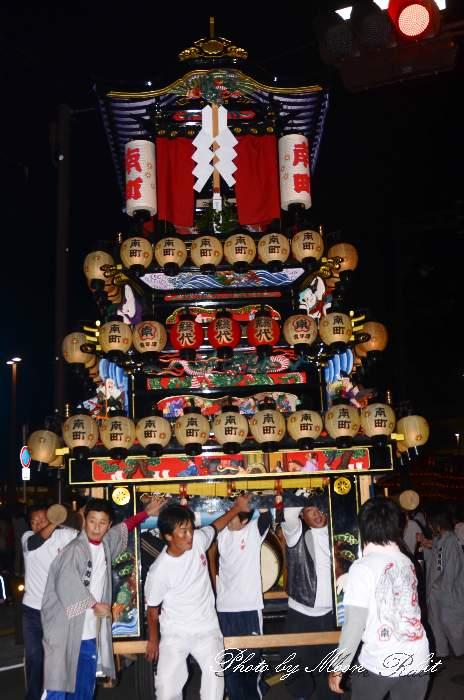 南町屋台(南町だんじり) 前夜祭 西条駅前 西条祭り2013 伊曽乃神社祭礼