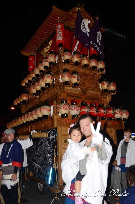 北之町上組屋台(だんじり) 前夜祭 西条駅前 西条祭り2013 伊曽乃神社祭礼