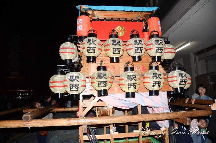 吉本子供だんじり(駅西子供屋台) 前夜祭 西条駅前 西条祭り2013 伊曽乃神社祭礼