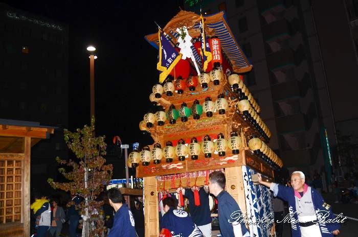 仲町小川屋台(だんじり) 前夜祭 西条駅前 西条祭り2013 伊曽乃神社祭礼