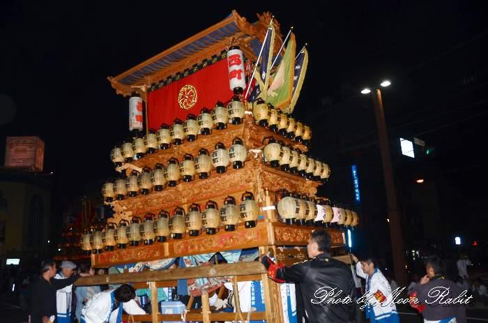 西町屋台(だんじり) 前夜祭 西条駅前 西条祭り2013 伊曽乃神社祭礼 愛媛県西条市大町