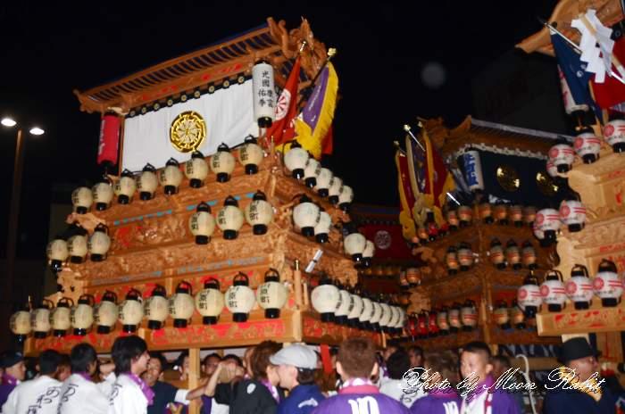 川原町屋台(だんじり) 前夜祭 西条駅前 西条祭り2013 伊曽乃神社祭礼