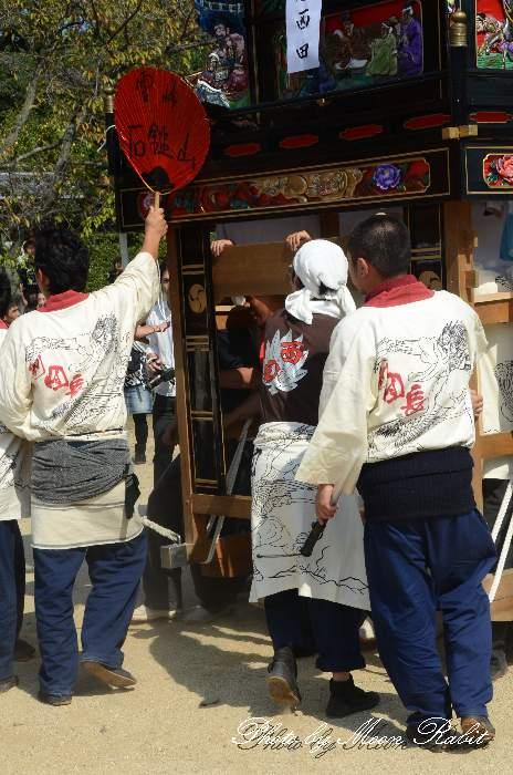 西田屋台(西田だんじり) 祭り装束 石岡神社祭礼