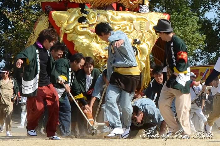 竹内御輿(みこし)  転倒 石岡神社祭礼2013 本殿祭 西条祭り