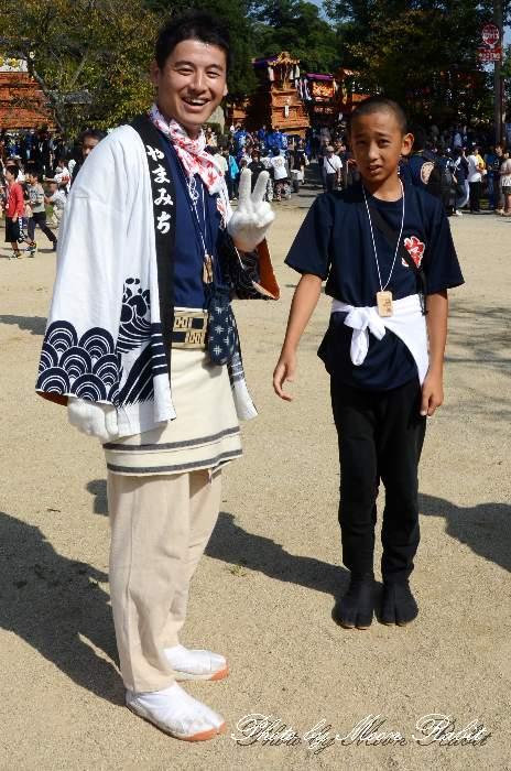 山道屋台(山道だんじり) 法被 祭り装束 石岡神社祭礼