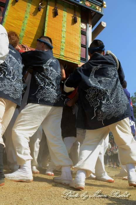 楢之木屋台(楢之木だんじり) 法被 祭り装束 石岡神社祭礼