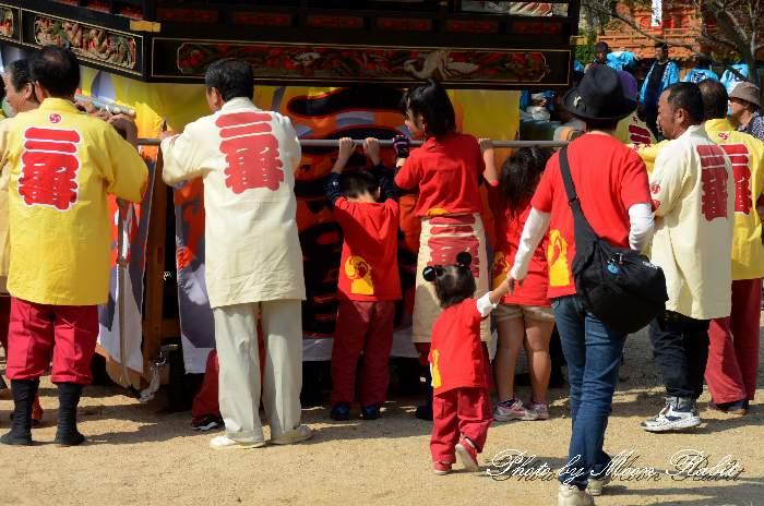 裏組だんじり(屋台) 法被 祭り装束 石岡神社祭礼