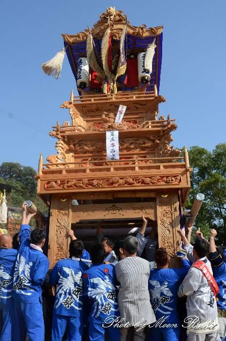 西泉屋台(西泉だんじり) 法被 祭り装束 石岡神社祭礼