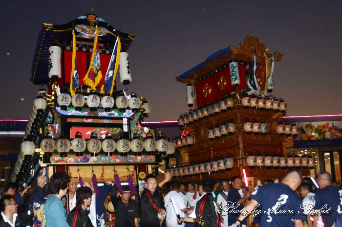マルナカ西条店 錦町だんじり(屋台) 前夜祭 西条祭り2013