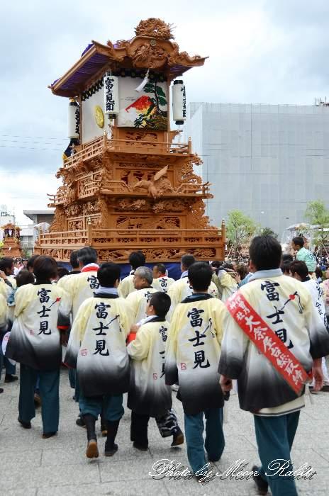 富士見町屋台(富士見町だんじり) 半被 祭り装束 御殿前 西条祭り2013