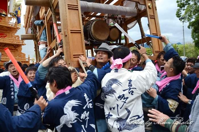 喜多川中屋台(喜多川中だんじり) 半被 祭り装束 御殿前 西条祭り2013