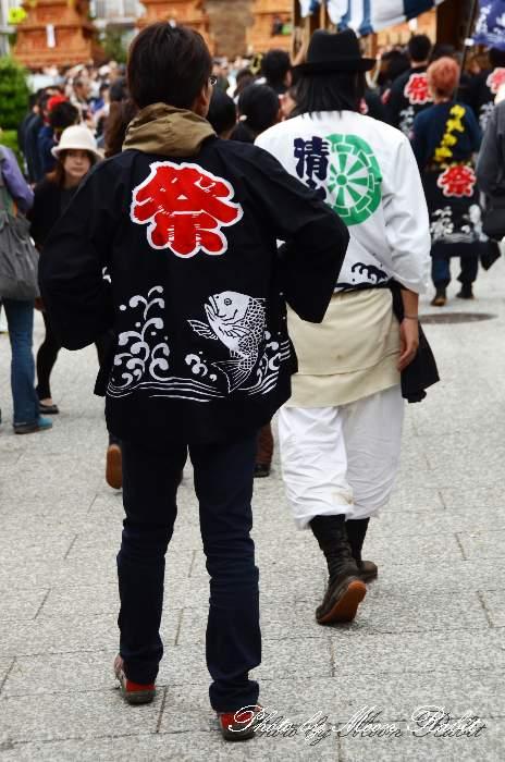 魚屋町だんじり(屋台) 法被 祭り装束 西条祭り2013 伊曽乃神社