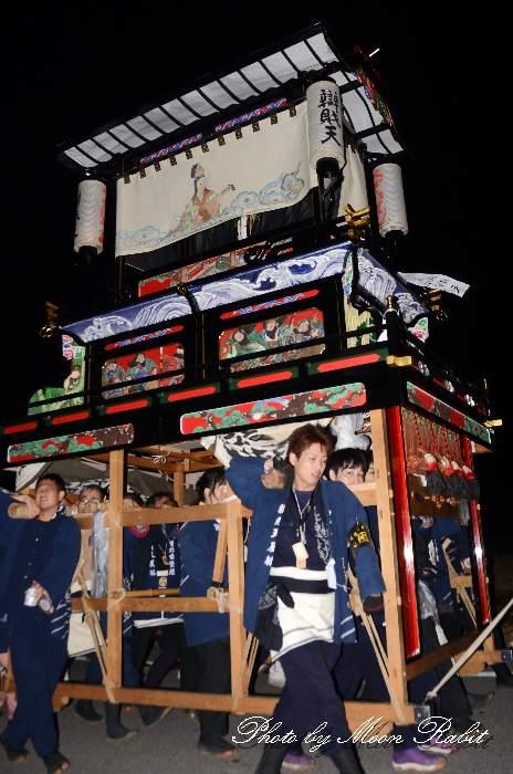 辯財天だんじり(屋台) 統一運行 西条祭り2013 伊曽乃神社祭礼